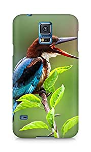 Amez designer printed 3d premium high quality back case cover for Samsung Galaxy S5 (Nature Beautiful Tweet Kingfisher)