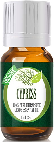 Cypress (Organic) Premium 100% Pure, Best Therapeutic Grade Essential Oil - 10Ml