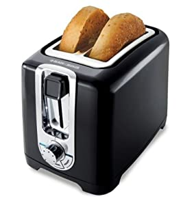 Black+%26+Decker Black & Decker TR1256B 850-Watt 2-Slice Toaster with Bagel Function and Removable Crumb Tray, 220-240-volt