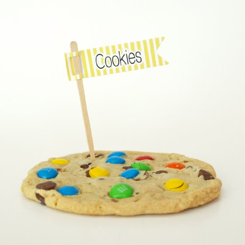 """Cookies"" Party Picks, Yellow (Set Of 12) - Add Character To Your Oatmeal, Chocolate Chip, Or Peanut Butter Treats back-939779"