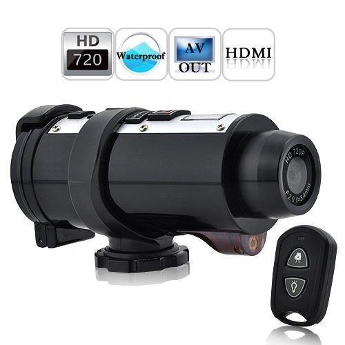 Waterproof 720P Hd Sports Action Video Camera + Remote Control