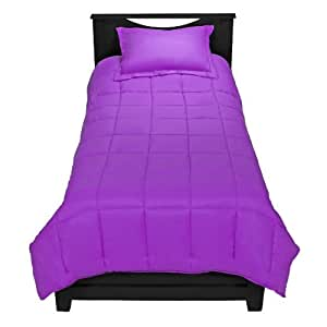 purple premium xl twin comforter set twin extra long. Black Bedroom Furniture Sets. Home Design Ideas