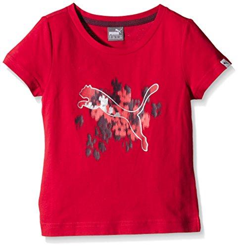 PUMA - T-Shirt da ragazza Fun IND con stampa Rosso Rosso - Lipstick red 104