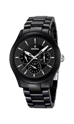 Festina F16639/2 - Reloj analógico de cuarzo unisex con correa de cerámica, color negro