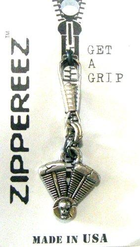 Zippereez Zipper Pull/Necklace Pendant ~ Motorcycle