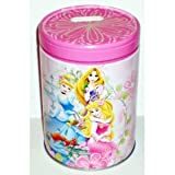 Disney Princess Pink Round Tin Bank