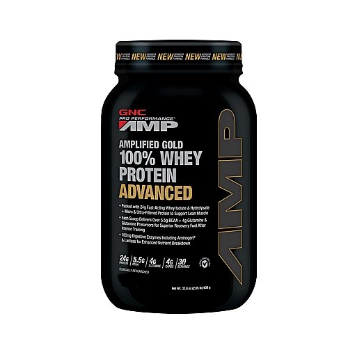 Gnc Pro Performance Amp Amplified Gold 100% Whey Protein Advanced Double Rich Chocolate 2.05 Lb(S)