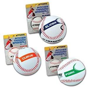 Buy Champro Fork Pitcher Training Baseball (White, 9-Inch) by Champro
