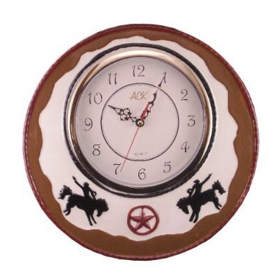 WALL DECOR CLOCK,WESTERN COWBOY DECOR