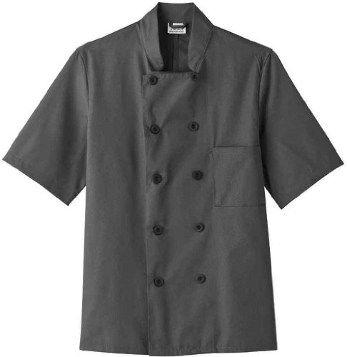 Five Star 18025 Adult's SS Chef Jacket Granite X-Small (Five Star Chef Apparel compare prices)