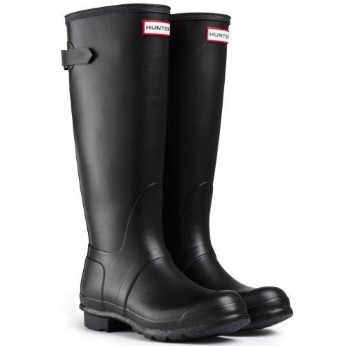 Women's Hunter Boots Original Adjustable Back Snow Rain Water Boots Unisex - Black - 7