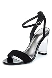 Autograph Suede Water Resistant Clear Heel Sandals with Insolia®
