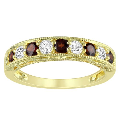 Yellow Silver 4/5 CT TGW Multi-Gemstone Fashion Ring
