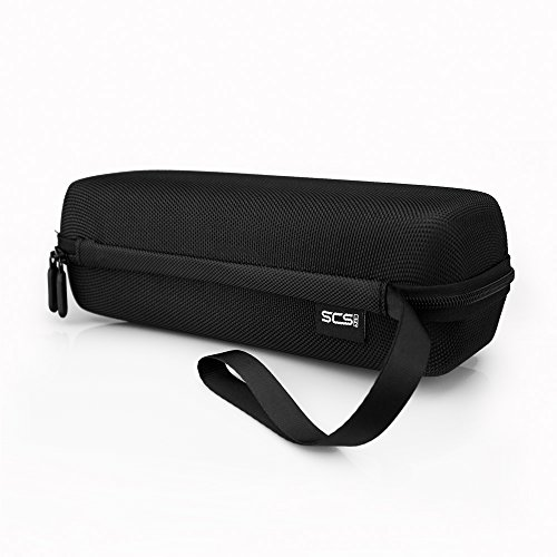 SCS ETC Portable Carrying Case with Double Zipper for Amazon Tap, BOSE MINI, UE BOOM, JBL FLIP3 Bluetooth Speaker, Black (Mini Speakers Amazon compare prices)