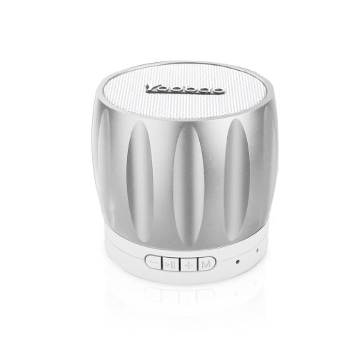 Yoobao Ybl202 Portable Wireless Bluetooth Mini-Speaker With Rechargeable Battery Bulit-In Speakerphone Surpport Tf Memory Card Playing And Radio Function Silver