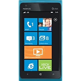 Nokia Lumia 900 4G Windows Phone, Cyan (AT&T)