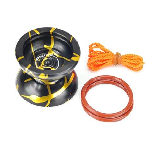 New Professional Yo-Yo Toys Style Magic YoYo N11 Black With Golden Alloy Aluminum by Pinkcoo