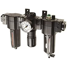 "Dixon E74-4A-MB Norgren Series Automatic Drain Combination Unit with Metal Bowl and Sight Glass, 1/2"" Size, 140 SCFM, 1/2"" Port Size, 5-150 PSI"