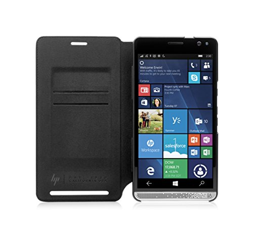 "HP Elite x3 Wallet Folio Leather Case 5.96"" Folio Black"
