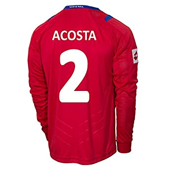 Buy Lotto ACOSTA #2 Costa Rica Home Jersey World Cup 2014 (Long Sleeve) by Lotto