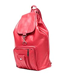 New Zovial Stylish Red PU Small Backpack