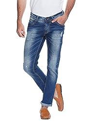 Spykar Blue Low Rise Skinny Fit Jeans (Actif)