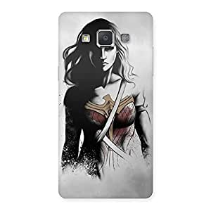 Cute Wonderful Girl Multicolor Back Case Cover for Galaxy Grand 3