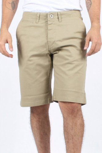 Volcom - Mens Rehtona Shorts, Size: 31, Color: Khaki