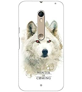 PrintDhaba WOLF QUOTE D-6257 Back Case Cover for MOTOROLA MOTO X STYLE (Multi-Coloured)