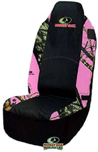 Mossy Oak Pink Camo Universal Bucket Seat Cover (Mossy Oak Break-Up Camo, Heavy-Duty Polyester Fabric, Sold Individually) (Bucket Seat Covers Pink compare prices)
