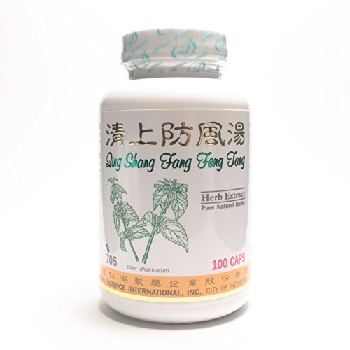 Siler Skin Cleanser Dietary Supplement 500Mg 100 Capsules (Qing Shang Fang Feng Tang) 100% Natural Herbs