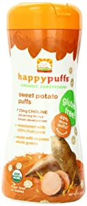 Happy Baby Gluten-Free Organic Puffs, Sweet Potato Puffs, 2.1-Ounce Containers (Pack of 6)