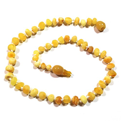 "Hazelaid (TM) 12"" Pop-Clasp Baltic Amber Super Butter Necklace - 1"