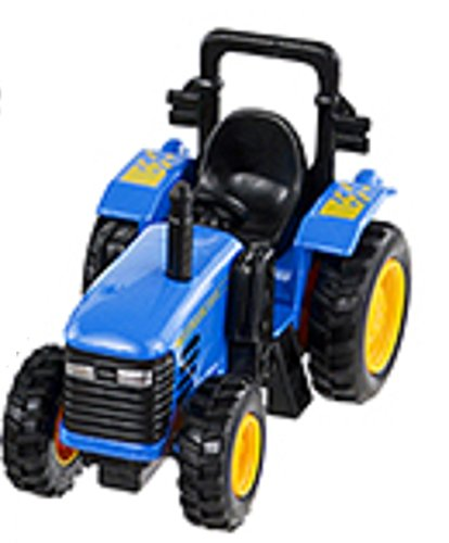 Pull Back and Go - 4 Inch Power Tractor - (Blue) - 1