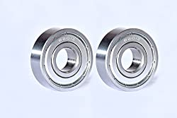 Best Quality Ball Bearing for Industrial, Automobile & General Purpose. (Pack of TWO Bearings) Model :- 6201-ZZ, SIZE : ID-12mm/OD-32mm/THICK-10mm. MAA-KU