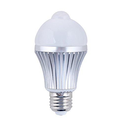 Daffodil LEB305 - LED Birne - Lampe mit Energieeffizienklasse A+ / 5W / - Mit Bewegungssensor / Bewegungsmelder / PIR - Kaltweiß - E27 Schraubung