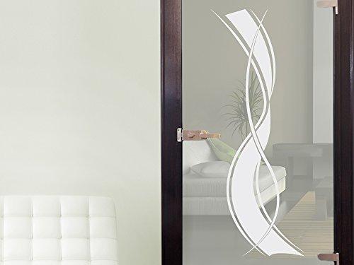 glasdekor glast r aufkleber fensterfolie f r wohnzimmer streifen folie spar baumarkt. Black Bedroom Furniture Sets. Home Design Ideas