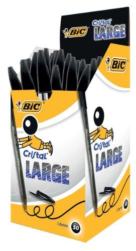 Bic Cristal Pen Large 1.6mm Black 880648 Pack of 50
