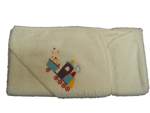 BabywearUK Baby Bath Robe with Train design