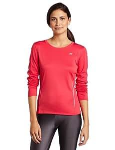 New Balance Women's Long Sleeve Tempo T-shirt (WRT9119) - Raspberry, Large