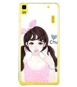 Printvisa Pink Dress Cute Girl Back Case Cover for Lenovo K3 Note::Lenovo A7000