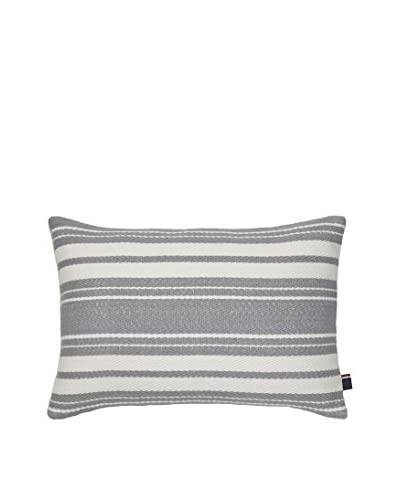 Tommy Hilfiger Woven Stripe Decorative Lumbar Pillow, Grey/Ivory