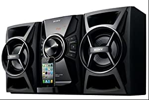 Sony 100 watts Hi-Fi Audio Stereo Sound System with iPod Dock, CD Player, AM/FM Receiver with 30 Station Presets, DSGX Bass Boost, 6 Preset Equalizers, 2-way Bass Reflex Speakers & Remote Control with Full iPod Menu