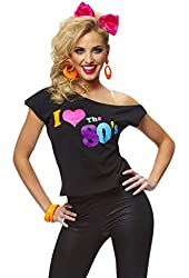 Costume Culture Women's I Love The 80's T-Shirt