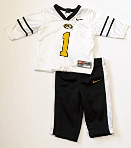 Missouri Mizzou Tigers Officially Licensed Infant Toddler Jersey And Pants Outfit by Nike