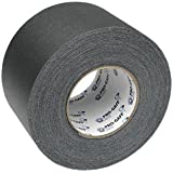 Pro Gaff / Gaffers Tape .5, 1, 2, 3, & 4 Inch Widths X Variable Lengths, 4 Inch, Black