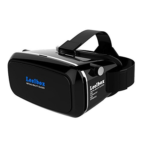 Leelbox 3D VR Glasses Google Cardboard 360 degree Viewing Immersive Virtual Reality 3D Video Games Glasses VR Headset Compatible with Smartphone 3.5-6.0 inch with Retail Package (Remove Card On Account compare prices)