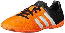 adidas Performance Ace 15.4 Indoor Soccer Cleat (Little Kid), Solar Orange/White/Black, 1.5 M US Little Kid