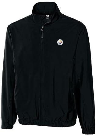 NFL Pittsburgh Steelers Mens WindTec Astute Full Zip Windshirt by Cutter & Buck