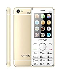 GFive Z12 Gold Mobile 2.4 inch TFT Display Gfive Dual SIM Phone G Five Keypad Cellphone with Camera Bluetooth Facebook FM Radio Music Player Cell Super Speaker ( Gold)